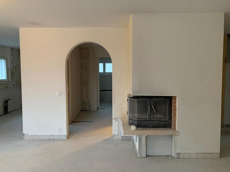 Cheminée appartement St Prex - Avant rénovation